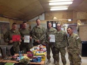 Just wanted to personally thank everyone from Boots on the Ground NY. My team just received our first package from the organization and were totally stoked. It was an immense morale booster and certainly a taste of home.