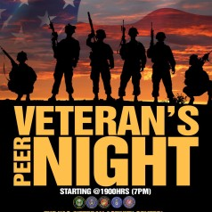 Veteran Peer Night – every Tuesday evening