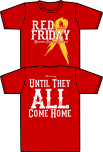 Support the troops red friday boots on the ground ny for Red support our troops shirts