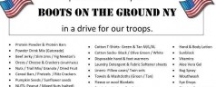Centereach FD Military Care Package Collection Drive – 'going on now!'