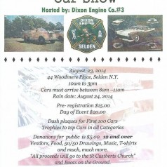 Selden FD Car Show – August 23rd.