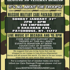 It's All about the Troops! The Big Annual Military Care Package Event – January 31st!