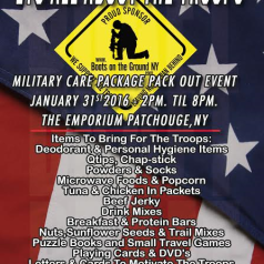 The big annual pack out is coming! Sunday January 31st at the Emporium in Patchogue.